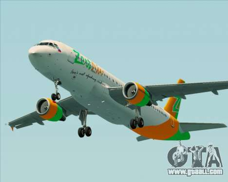 Airbus A320-200 Zest Air for GTA San Andreas engine