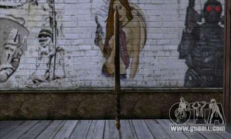 New Katana (Sword) for GTA San Andreas second screenshot