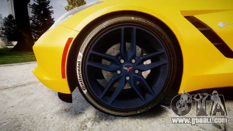 Chevrolet Corvette C7 Stingray 2014 v2.0 TireCon for GTA 4 back view