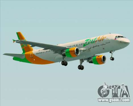 Airbus A320-200 Zest Air for GTA San Andreas left view