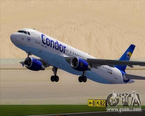 Airbus A320-200 Condor for GTA San Andreas wheels