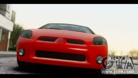 Mitsubishi Eclipse 2006 for GTA San Andreas back left view