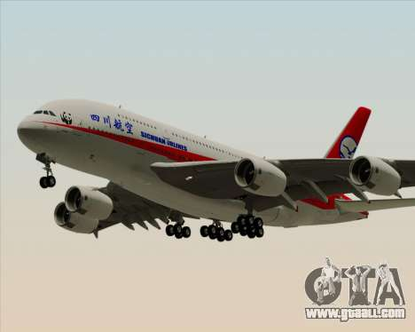 Airbus A380-800 Sichuan Airlines for GTA San Andreas left view
