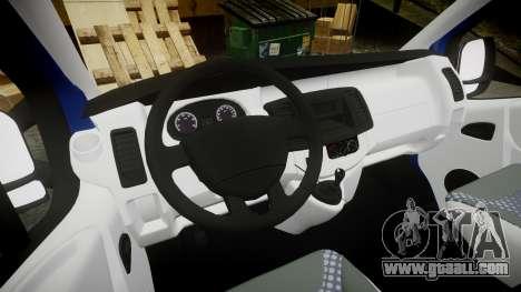 Renault Trafic Passenger for GTA 4 back view