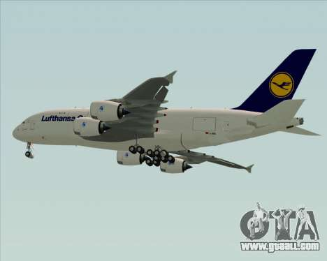 Airbus A380-800F Lufthansa Cargo for GTA San Andreas right view