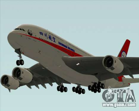 Airbus A380-800 Sichuan Airlines for GTA San Andreas engine