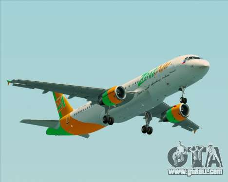 Airbus A320-200 Zest Air for GTA San Andreas inner view