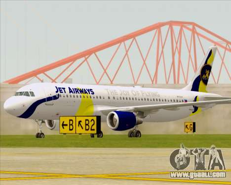 Airbus A320-200 Jet Airways for GTA San Andreas left view