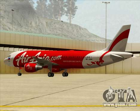 Airbus A320-200 Air Asia Philippines for GTA San Andreas inner view