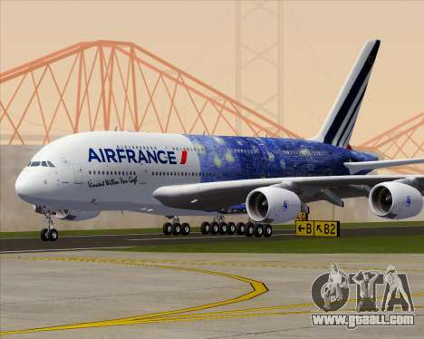 Airbus A380-800 Air France for GTA San Andreas bottom view