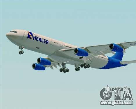 Airbus A340-300 Air Herler for GTA San Andreas side view