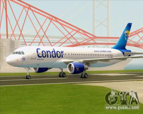 Airbus A320-200 Condor for GTA San Andreas back left view