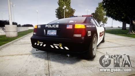 Bravado Buffalo Police LCPD for GTA 4 back left view