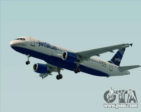 Airbus A320-200 JetBlue Airways for GTA San Andreas back left view