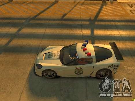 Chevrolet Corvette Z06 Police for GTA 4 inner view