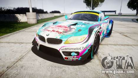 BMW Z4 GT3 2014 Goodsmile Racing for GTA 4