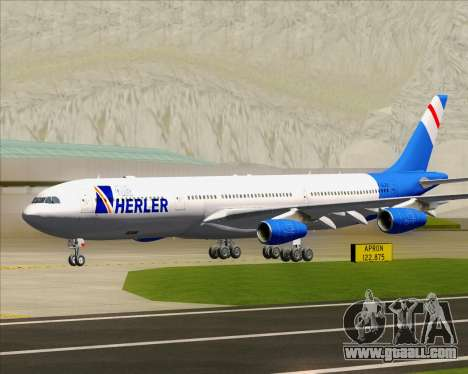 Airbus A340-300 Air Herler for GTA San Andreas left view