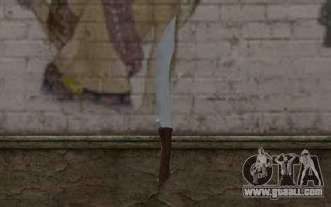 Steel knife for GTA San Andreas