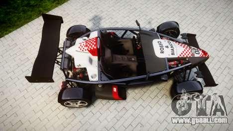 Ariel Atom V8 2010 [RIV] v1.1 Rosso & Bianco for GTA 4 right view