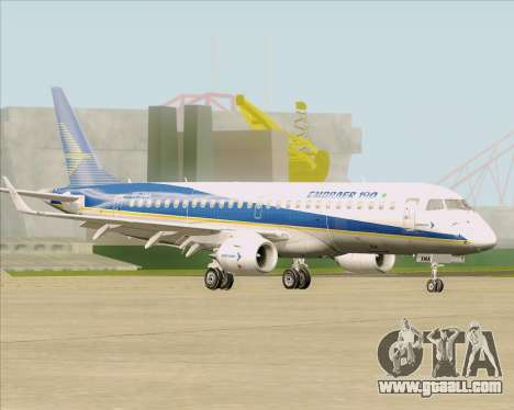 Embraer E-190-200LR House Livery for GTA San Andreas inner view