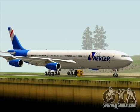 Airbus A340-300 Air Herler for GTA San Andreas inner view