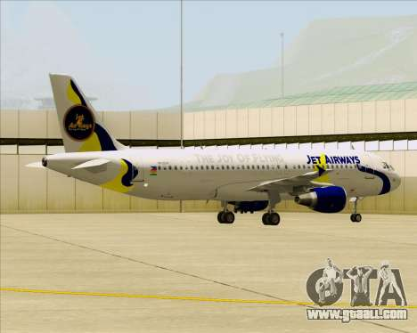 Airbus A320-200 Jet Airways for GTA San Andreas inner view