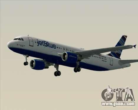 Airbus A320-200 JetBlue Airways for GTA San Andreas bottom view