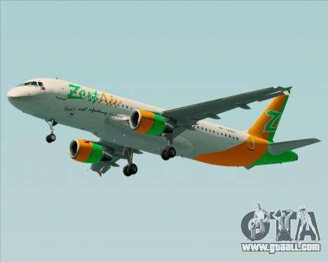 Airbus A320-200 Zest Air for GTA San Andreas wheels