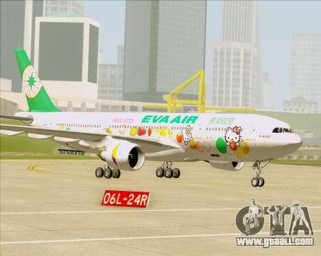 Airbus A330-200 EVA Air (Hello Kitty) for GTA San Andreas wheels