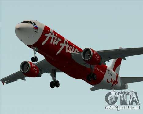 Airbus A320-200 Air Asia Philippines for GTA San Andreas engine