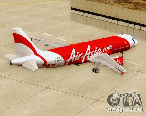 Airbus A320-200 Air Asia Philippines for GTA San Andreas bottom view