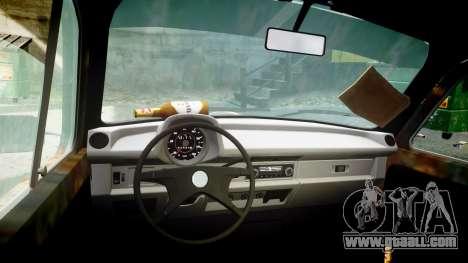 Volkswagen Beetle rust for GTA 4 back view