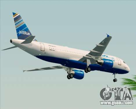 Airbus A320-200 JetBlue Airways for GTA San Andreas back view