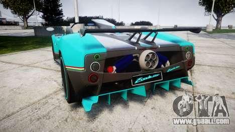 Pagani Zonda Uno for GTA 4 back left view