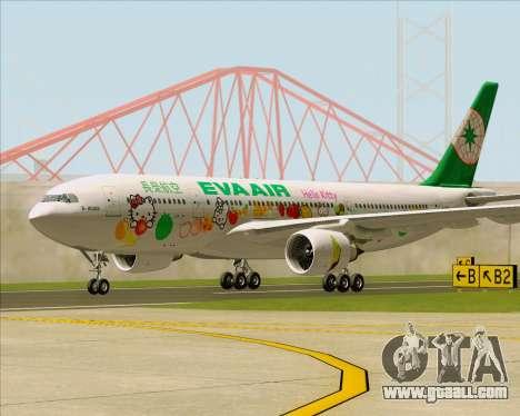 Airbus A330-200 EVA Air (Hello Kitty) for GTA San Andreas left view
