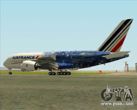 Airbus A380-800 Air France for GTA San Andreas wheels