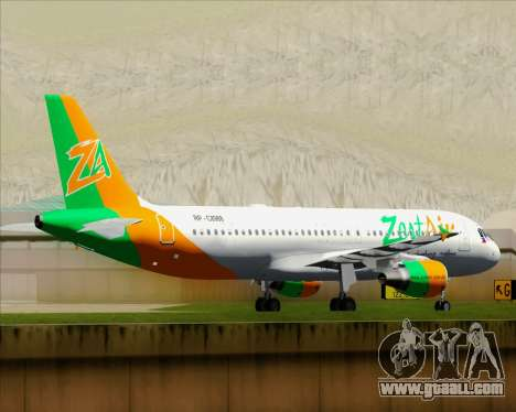 Airbus A320-200 Zest Air for GTA San Andreas upper view