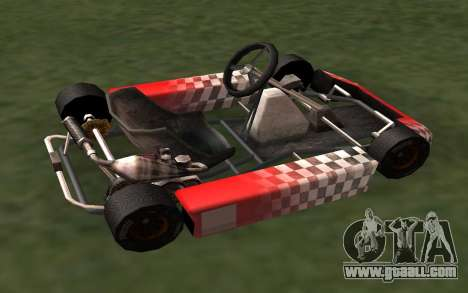 Updated Kart for GTA San Andreas for GTA San Andreas left view