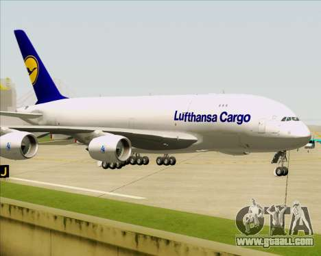 Airbus A380-800F Lufthansa Cargo for GTA San Andreas upper view