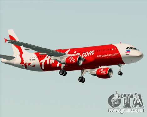 Airbus A320-200 Air Asia Philippines for GTA San Andreas right view
