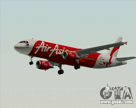 Airbus A320-200 Air Asia Philippines for GTA San Andreas back left view