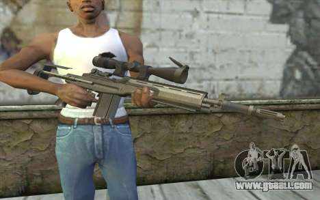 M14 EBR for GTA San Andreas third screenshot