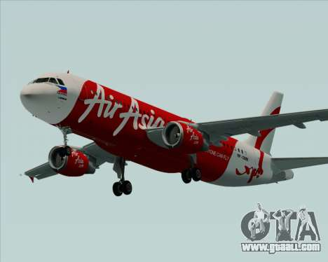 Airbus A320-200 Air Asia Philippines for GTA San Andreas upper view