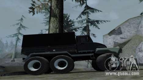 ZIL Kerzhak 6x6 for GTA San Andreas back view