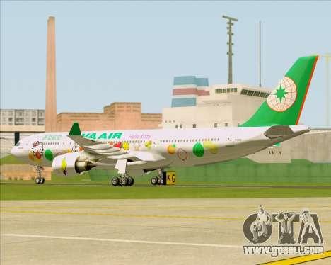 Airbus A330-200 EVA Air (Hello Kitty) for GTA San Andreas back view