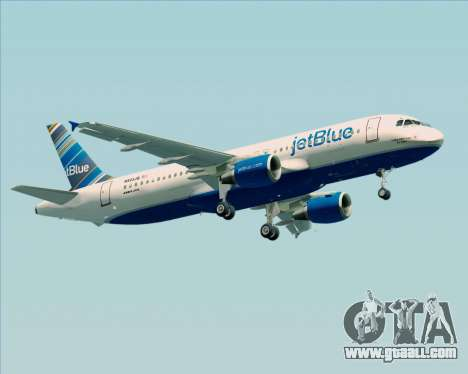 Airbus A320-200 JetBlue Airways for GTA San Andreas right view