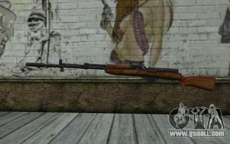 Simonov Self-Loading Carbine for GTA San Andreas