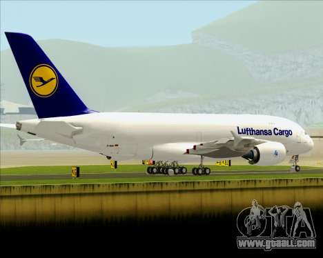 Airbus A380-800F Lufthansa Cargo for GTA San Andreas side view