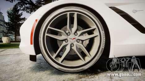 Chevrolet Corvette C7 Stingray 2014 v2.0 TireKHU for GTA 4 back view