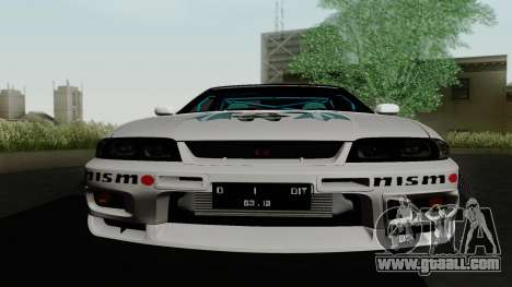 Nissan Skyline GT-R33 for GTA San Andreas upper view